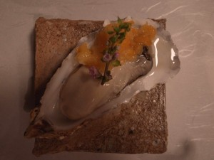 牡蠣の金柑