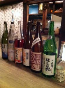「ごでんや」の会で飲んだ日本酒たち